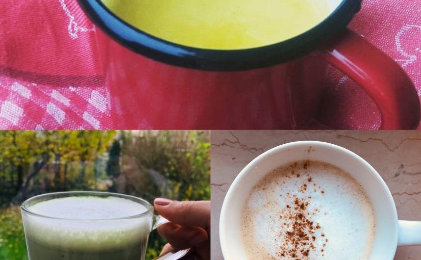 3 bebidas calientes – curcuma, matcha y pumpkin spicelattes