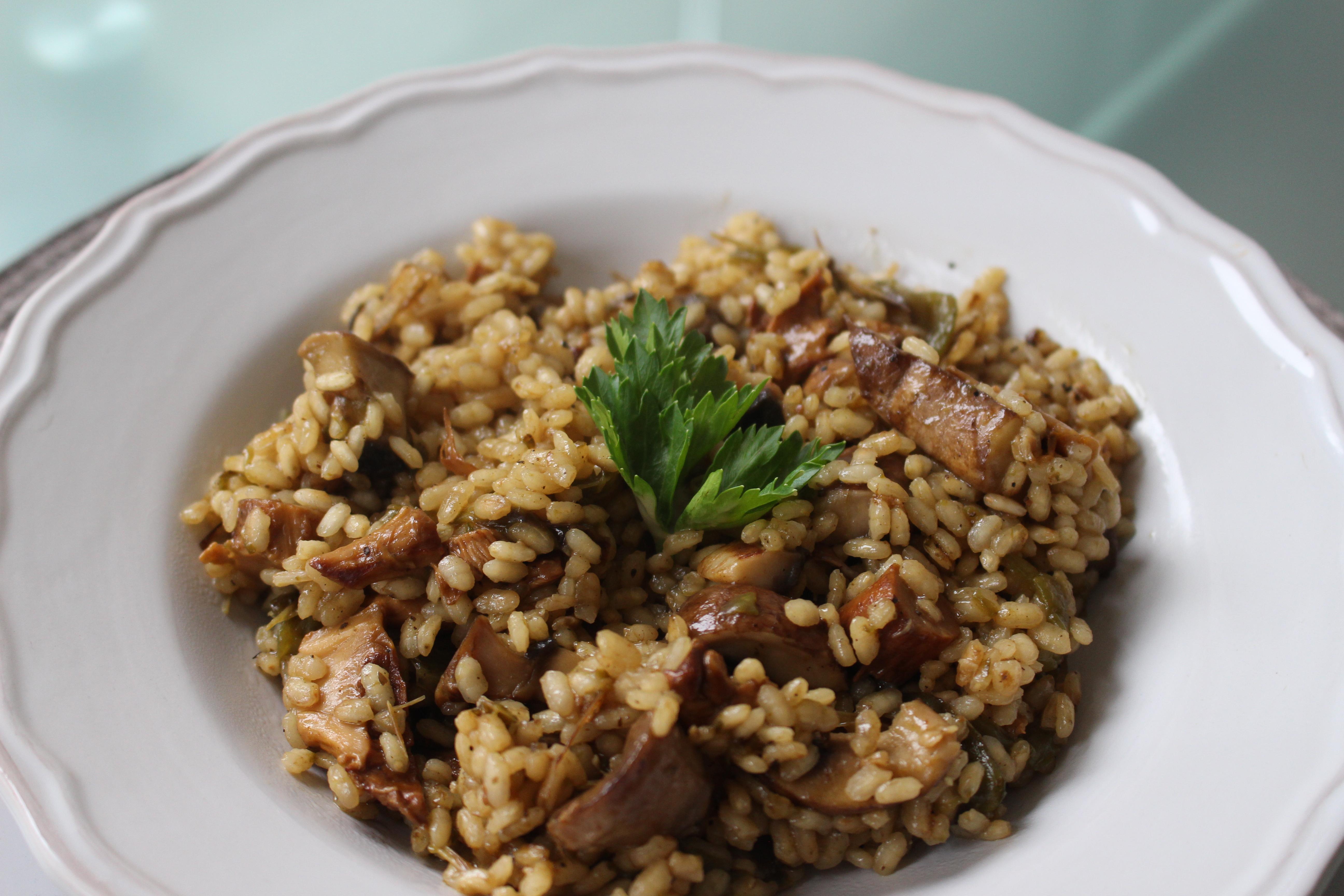 Arroz Caldoso Con Setas Y Pollo arroz meloso con setas y pimiento verde – varianity