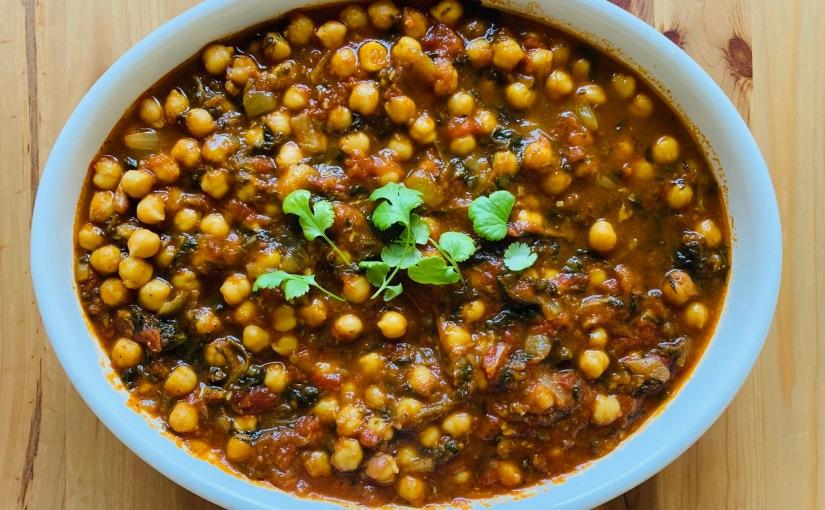 Chana masala (pisto hindú congarbanzos)