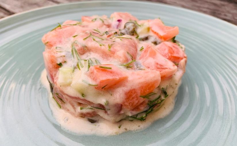 Tartar de salmón estilonórdico