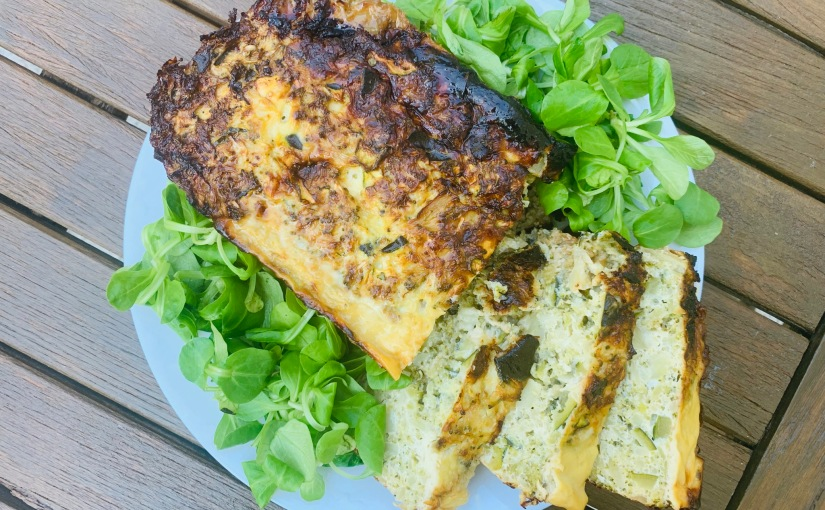 Pastel de verduras y quesoazul