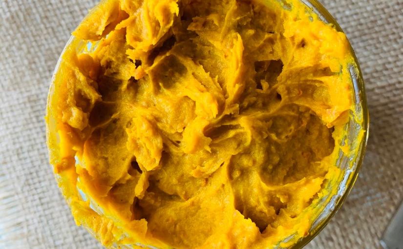Untable/glaseado/frosting de calabaza y especias (pumpkin cinnamonspread)