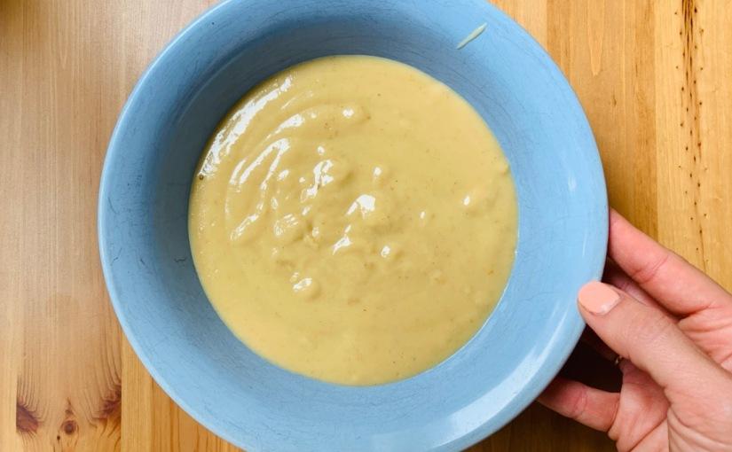 Crema de patata a la mostaza (perfecta para acabar con restos deverduras!)