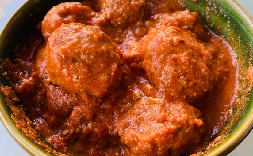 Albóndigas en salsa de tomate (con y sinCrockpot)