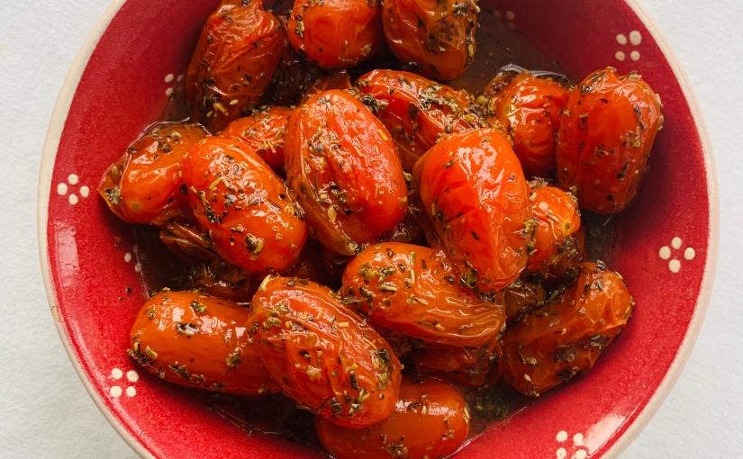 Tomatitos cherries asados con hierbas provenzales(guarnición)