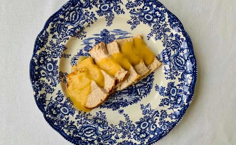 Lomo de cerdo en salsa de manzana (ollaexpress)